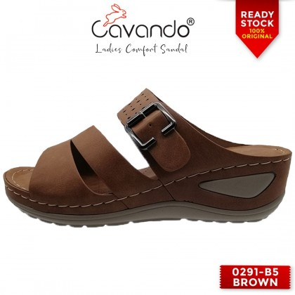Cavando Ladies Comfort Sandals EXTRA LARGE SIZE - 0291-B5 (Pink , Brown , Blue)