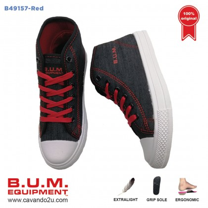 BUM Equipment Canvas Shoes B49157/B49158/B49159 (Red / Pink / Grey)  Unisex Sneakers